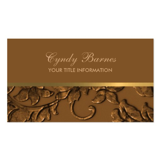 Any Color with Copper Damask Business Card