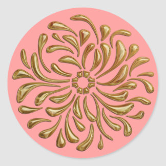Any Color with Gold Design Seal Sticker