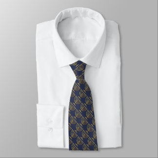 Any Color with Gold Menorah Pattern Neck Tie