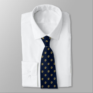 Any Color with Gold Star of David Pattern Neck Tie