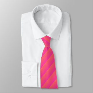 Any Color with Hot Pink Diagonal Stripe Tie