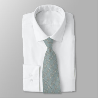 Any Color with Pearly Menorah Pattern Neck Tie
