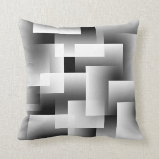 Any Color with White Gradient Blocks Throw Pillow