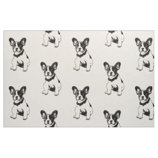 Any Custom Color French Bulldog Puppy Graphic Fabric
