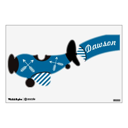 Any Custom Color Personalized Airplane Wall Decal