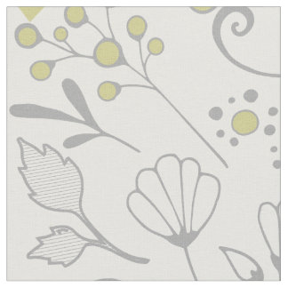 Any Custom Color Rustic Floral Pattern Fabric