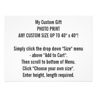 ANY CUSTOM SIZE Customizable Photo Print
