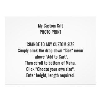 Any Custom Size Personalized Photo Print