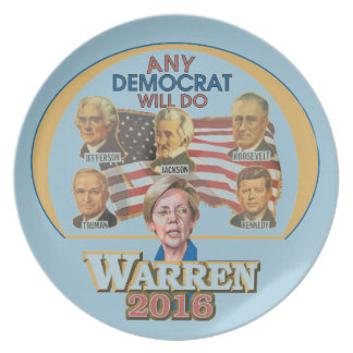Any Democrat Melamine Plate