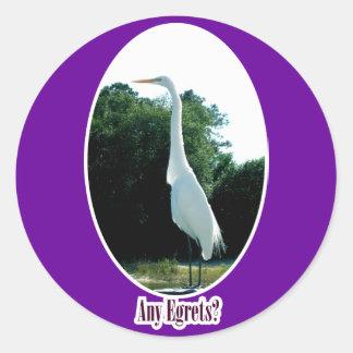 Any Egrets Sticker