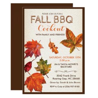 ANY EVENT - Fall Autumn Leaves Invitation