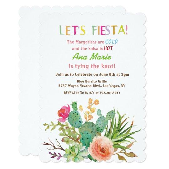 any event fiesta floral cactus invitation zazzle com