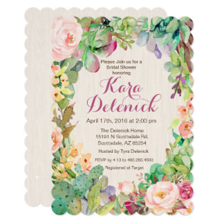 ANY EVENT - Succulent Floral Cactus Invitation
