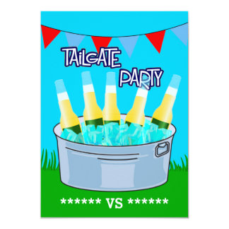 "Any Event Tailgate Party Customizable 5"" X 7"" Invitation Card"