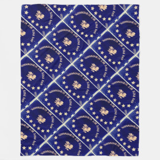 Any Fate But Submission - St. Augustine Blue's Fleece Blanket