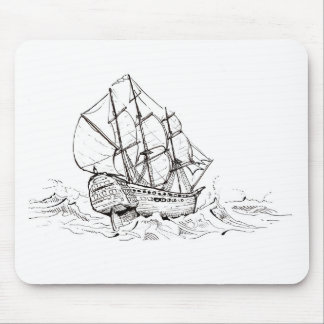 Any Frigate in a Storm Mouse Pad