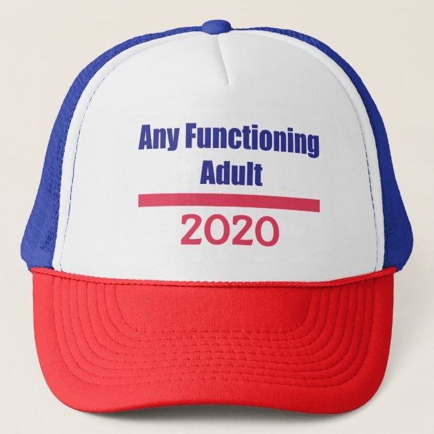 Funny 2020 Campaign Trucker Hat Any Functioning Adult Trucker Hat Mesh Cap