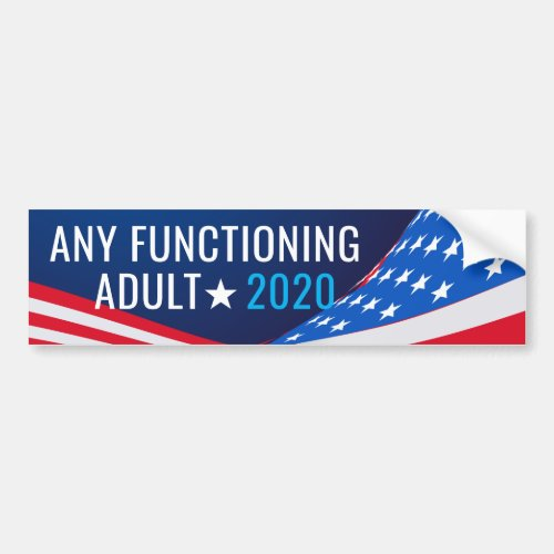 Any Functioning Adult Campaign Bumper Sticker