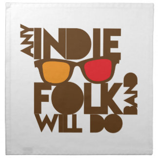 Any indie Folk band will do ND music Napkin