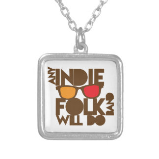 Any indie Folk band will do ND music Silver Plated Necklace