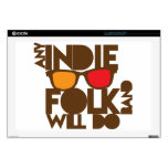 """Any indie Folk band will do ND music 17"""" Laptop Skins"""