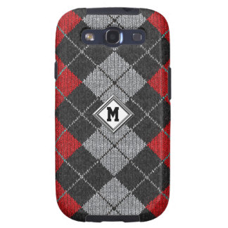 Any Initial Comfy Argyle Look Samsung Galaxy Case