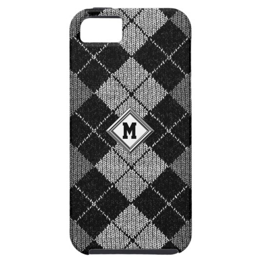 Any Initial On Comfy Argyle Look iPhone 5 Case