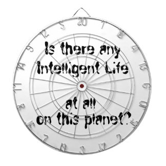 Any Intelligent Life at all?-dart board Dartboard With Darts