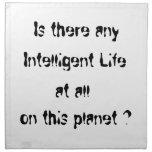 Any intelligent life?-mojo napkin