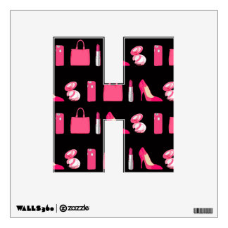 Any letter Girly things fashionista wall decal