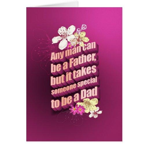Any man can be a father tarjeta de felicitación