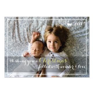 Any Message Santa Flourish Christmas Photo Card