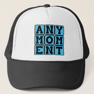 Any Moment, Pregnancy Announcement (Boy) Trucker Hat
