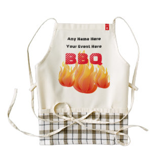 Any Name, Any Event BBQ - Zazzle HEART Apron