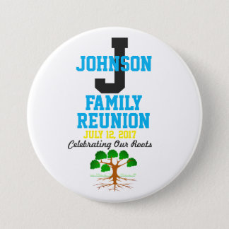 Any Name Family Reunion with Any Date - Pinback Button