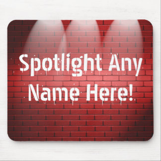 Any Name In Spotlights Mouse Pad