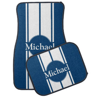 Personalized Racing Stripes Car Floor Mats