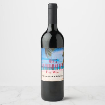 AnotherGreatEvent Any Name Retirement Red Fine Wine - Wine Label