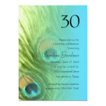 Any Number Birthday Peacock Fantasy Set 1105 5x7 Paper Invitation Card