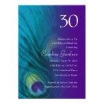 Any Number Birthday Peacock Fantasy Set 1110 5x7 Paper Invitation Card