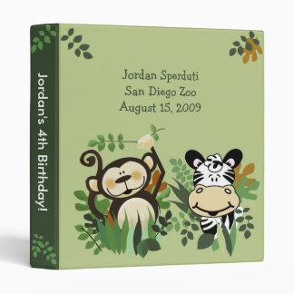 ANY OCCASION Monkey, Zebra, Lion Jungle Safari Binder