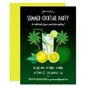 Professional Business Any occasion Summer Cocktails Party Invitation
