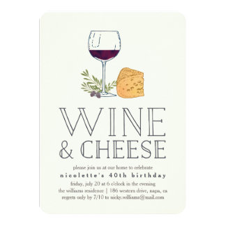 Any Occasion Wine and Cheese Party Invitation