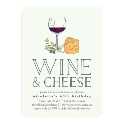 Wine And Cheese Engagement Party Invitation Zazzle Com
