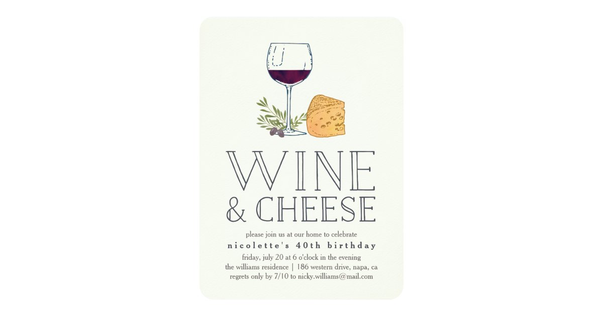 Any Occasion Wine and Cheese Party Invitation | Zazzle.com