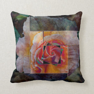 Any Other Rose - Blue Throw Pillow