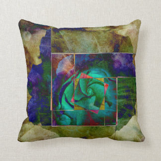 Any Other Rose - Green Throw Pillow