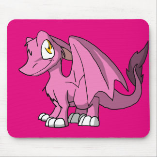 Any Pastel Color SD Furry Dragon 1 Mouse Pad