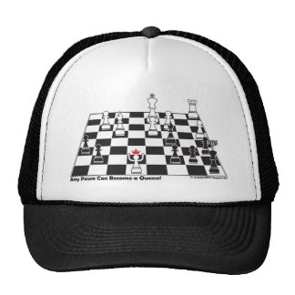 Any Pawn Can Become a Queen - Chess Board Set Trucker Hat