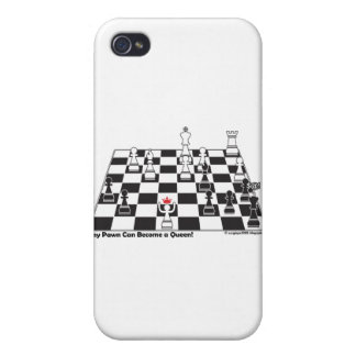Any Pawn Can Become a Queen - Chess Board Set iPhone 4 Case